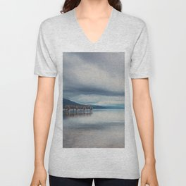 reflections in the water ...  Unisex V-Neck