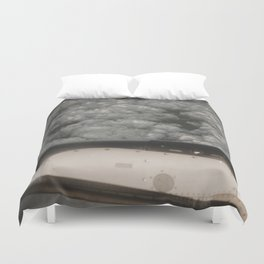 Metal and clouds Duvet Cover