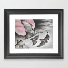 Strawberry Moon Framed Art Print