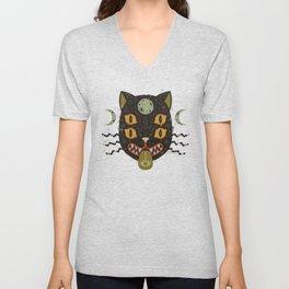 Spooky Cat Unisex V-Neck