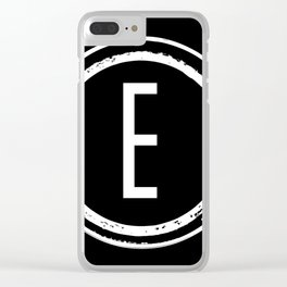 Letter E Monogram Clear iPhone Case
