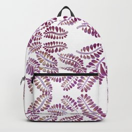 Watercolor pink leaves symmetry pattern Backpack