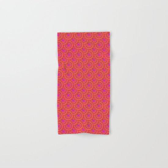 Tropical Parasols Pattern Hand & Bath Towel