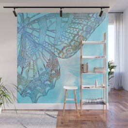 Colorful Abstract Butterfly Design Wall Mural