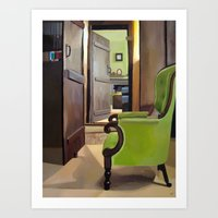 Green Chair Art Print