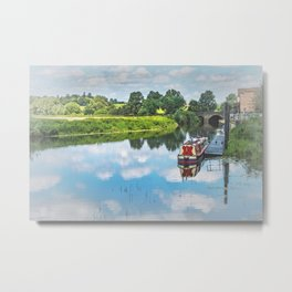 Tewkesbury Waterside Metal Print