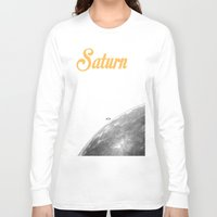 saturn Long Sleeve T-shirts featuring Saturn by annaowe