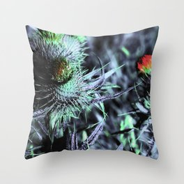 The Black Thistle | Musical Crime Productions | Unique Photography of Nature Throw Pillow
