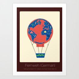 Found in Translation - Fernweh Art Print