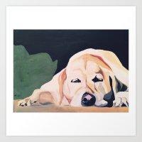 marley Art Prints featuring Marley by Aubrey Eull