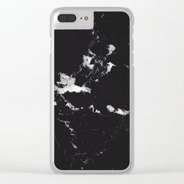 Black Marble #1 #decor #art #society6 Clear iPhone Case