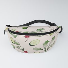 Radishes and cucumbers Fanny Pack