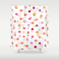 polka Shower Curtains featuring Polka by Eleanor Amelia