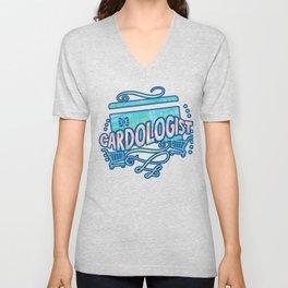 Cardologist Shop 'Til You Drop Credit Card Gifts and Apparel Unisex V-Neck