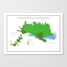 Anzac Map III Canvas Print