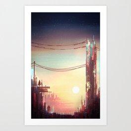 SubUrbanSciFi Art Print