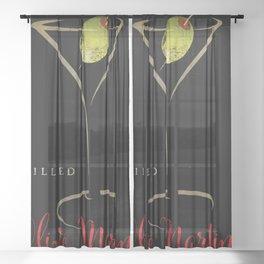 Olive Martini Sheer Curtain