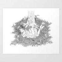 dreamer Art Prints featuring Dreamer by KadetKat