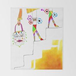Sheri (stair series) Throw Blanket