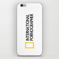 International Pornographer iPhone & iPod Skin