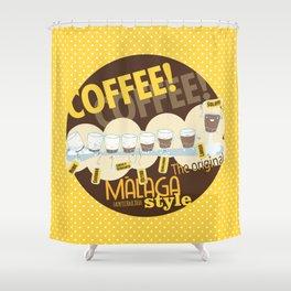 Málaga Coffee Shower Curtain