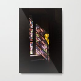 Inside Sun  stained glass church Metal Print