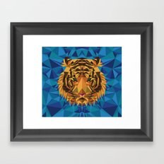 Liger Abstract - Its a Lion Tiger Hybrid Framed Art Print
