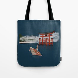 Floating by the Torii Gate Tote Bag