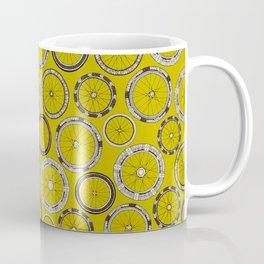 bike wheels chartreuse Coffee Mug