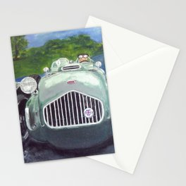 Racing Car on race track Stationery Cards