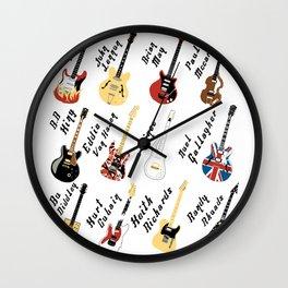 Legendary Guitars Wall Clock