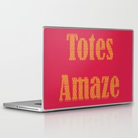 totes Laptop & iPad Skins featuring Totes Amaze Pink/Yellow by PintoQuiff