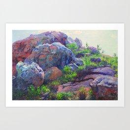 Rocks at Lukenya Hills, Africa by William R. Leigh Art Print