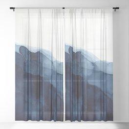 Indigo Sheer Curtain