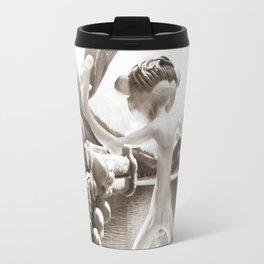 Naked Cowboy (sepia) Travel Mug