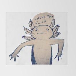 WTF Axolotl Throw Blanket