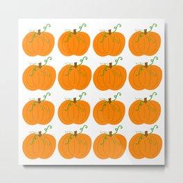 Pumpkin Patch Pattern Metal Print