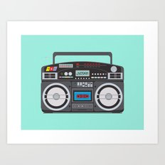 Ghetto Blaster Art Print