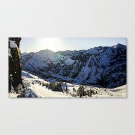 light over alta Canvas Print