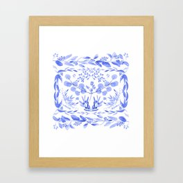 Indigo Scene Framed Art Print