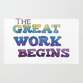 The Great Work Begins Rug