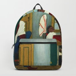African American Masterpiece 'Saturday Morning Breakfast' by Horace Pippin Backpack