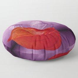 orange physalis Floor Pillow