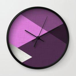 Geometrics III - amethyst purple silver Wall Clock