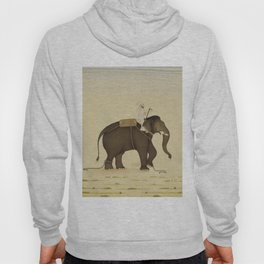 Mahout Riding an Elephant Painting (18th Century) Hoody