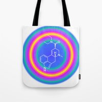 lsd Tote Bags featuring LSD drop by moleculestore