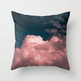 Pink night clouds Throw Pillow