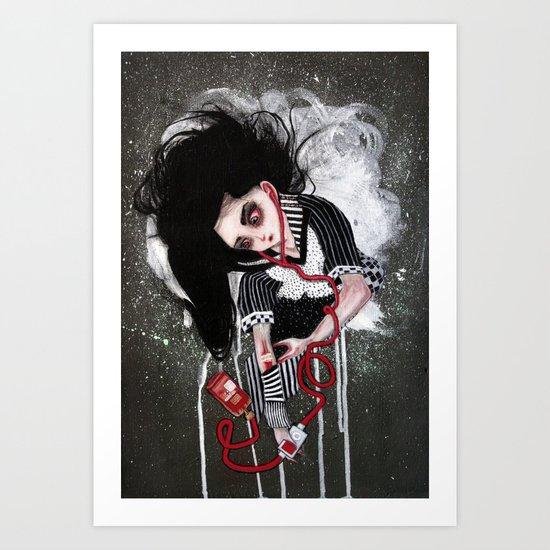 without a heartbeat Art Print