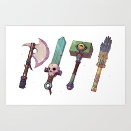 Weapons Art Print