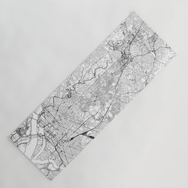 Washington D.C. White Map Yoga Mat